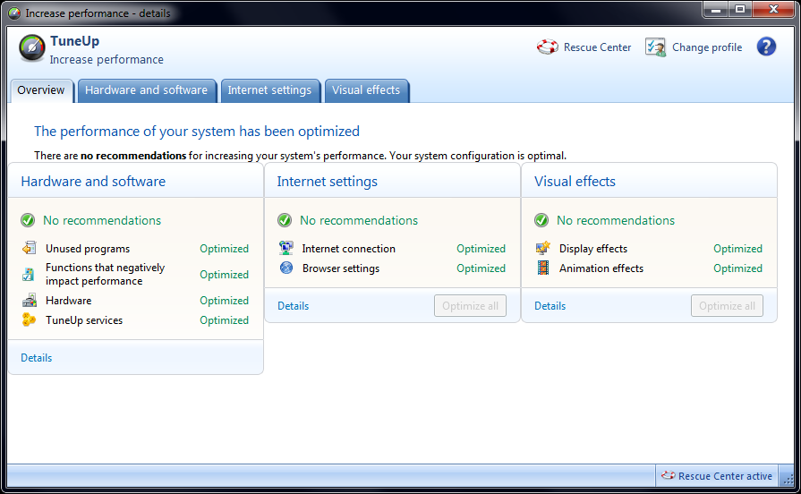 TuneUp Utilities 2012 increase performance page image